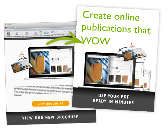 Link to your online magazine, ecatalog or flipbook in emailings
